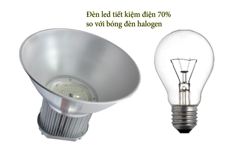Đèn LED nhà xưởng 150w tiết kiệm điện gấp 5 lần so với bóng sợi đốt